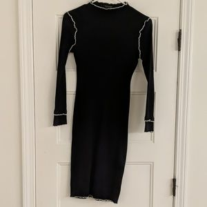 Topshop Navy bodycon dress